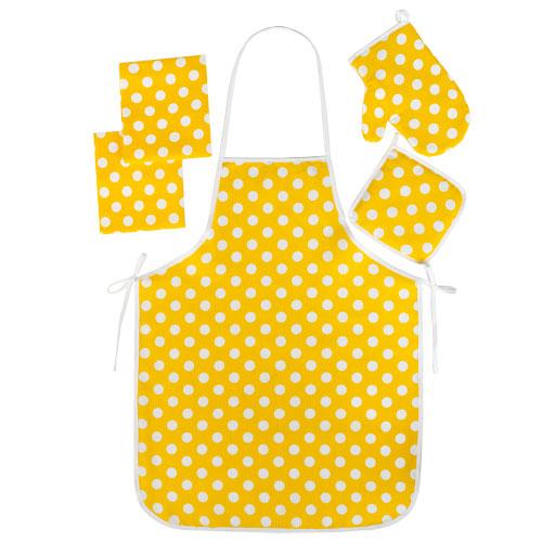 """Набор для кухни """"Ассорти-Горошек желтый"""" (5 предметов)"""