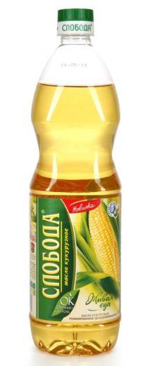 Масло подс. Слобода кукурузное 1л.