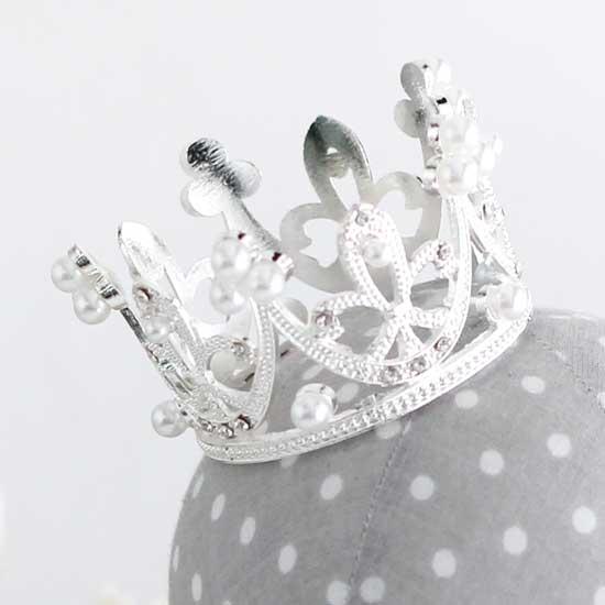 Аксессуар для куклы - Корона Серебро 6 см