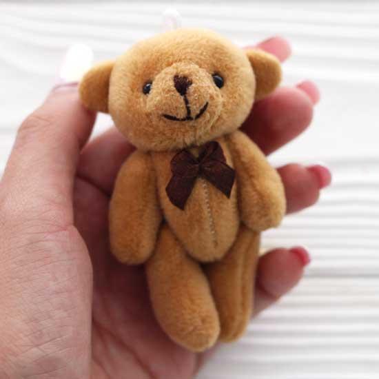 Мишка для куклы, коричневый, 8 см