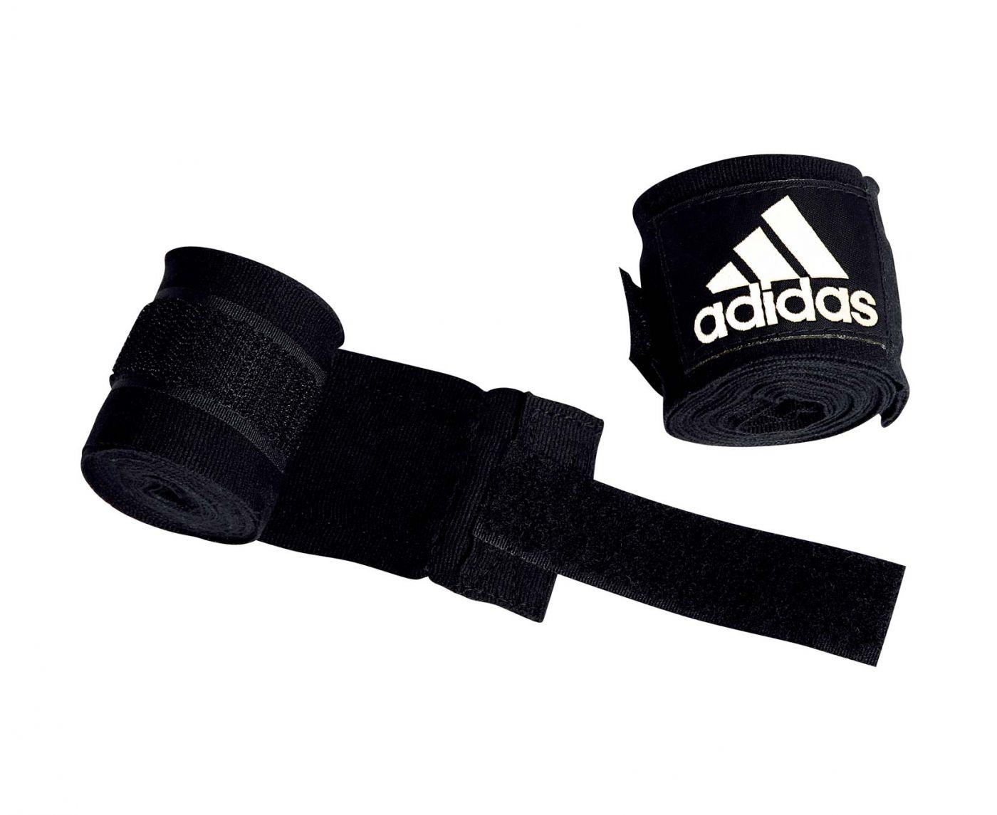 Бинты эластичные Adidas AIBA New Rules Boxing Crepe Bandage чёрные, 3.5м, adiBP031