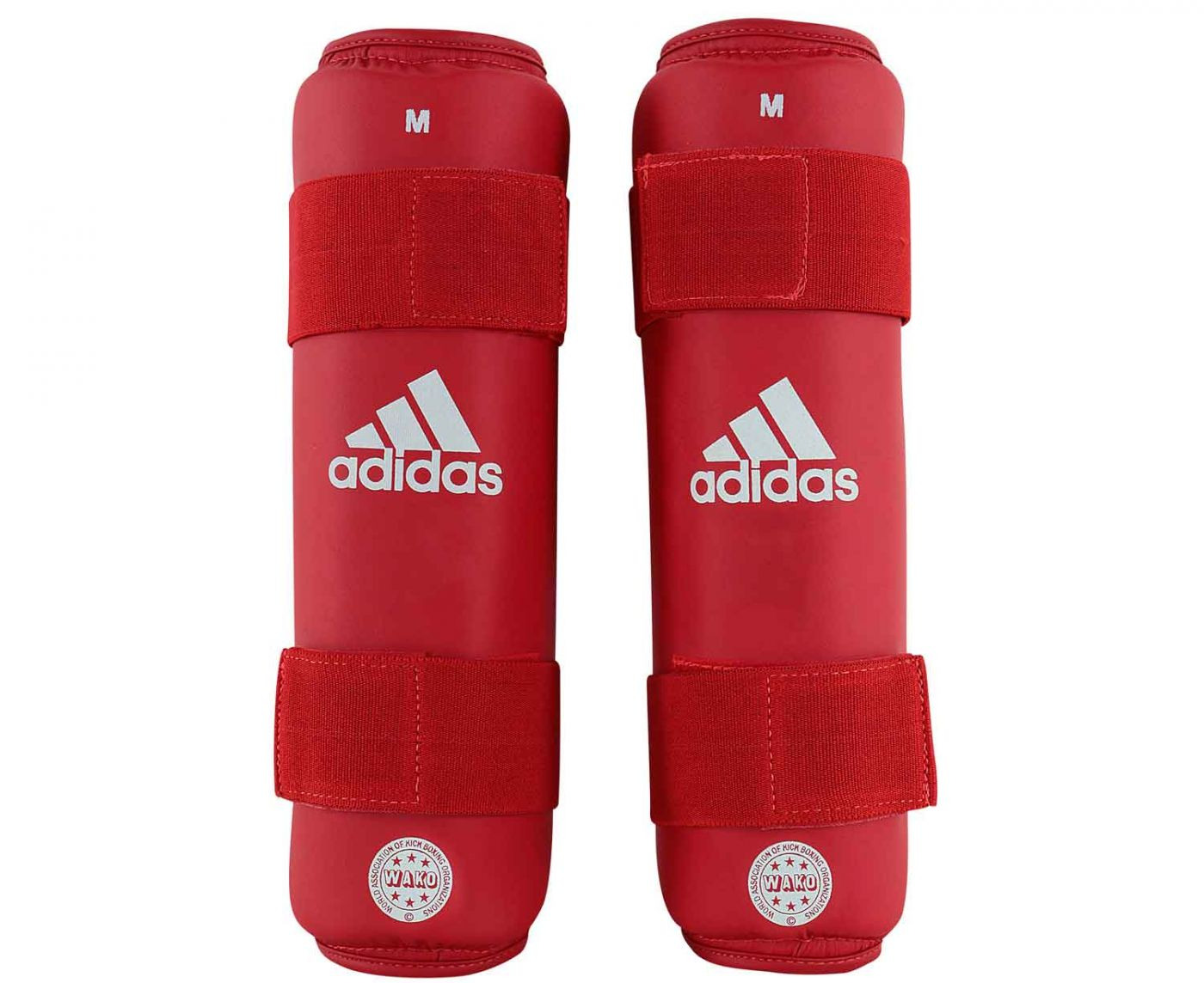 Защита голени Adidas WAKO Kickboxing Shin Guards красная, размер L, артикул adiWAKOSG01