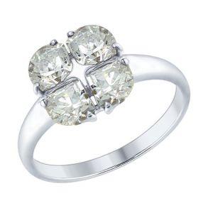 Кольцо из серебра со Swarovski Zirconia 89010104 SOKOLOV