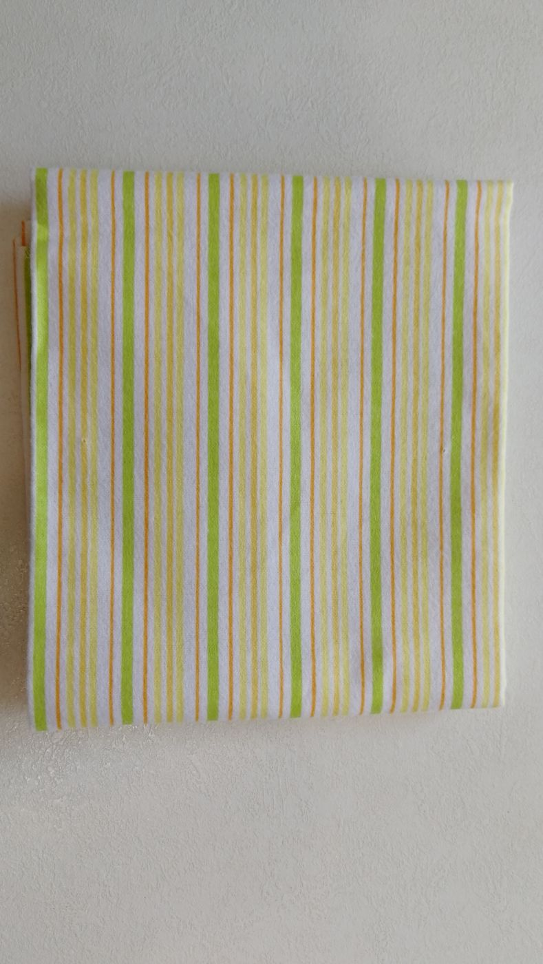 Пеленка Spasilk желто-салатовые полосы 76х76 см