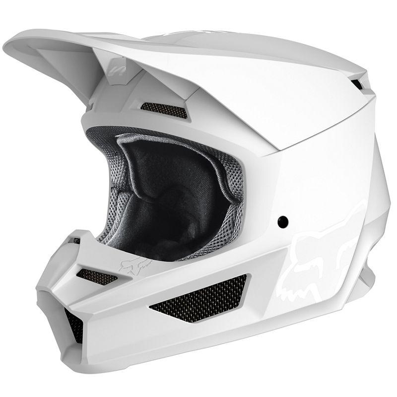 Fox - 2020 V1 Matte White шлем, белый матовый