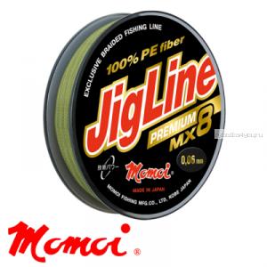 Леска плетеная Momoi JigLine Premium MX8 100 м / цвет: хаки