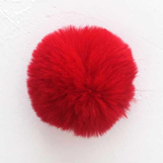 Помпон красный, 7 см  (искусственный)