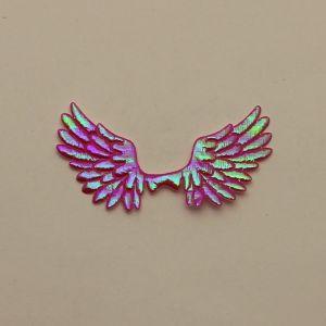 """`Патч """"Крылья"""", 70*35 мм, цвет розовый (1уп = 5шт)"""