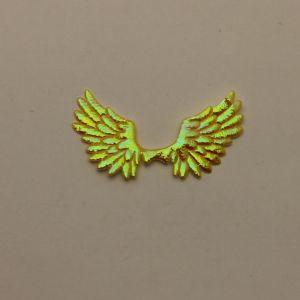 "`Патч ""Крылья"", 70*35 мм, цвет желтый (1уп = 5шт)"