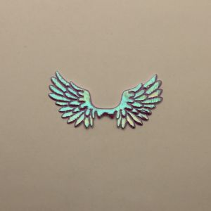 """`Патч """"Крылья"""", 70*35 мм, цвет сиреневый (1уп = 5шт)"""