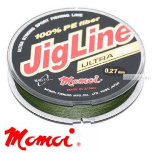 Леска плетеная Momoi JigLine Ultra PE 100 м / цвет: хаки