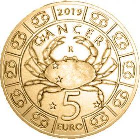 Знак Зодиака Рак 5 евро Cан-Марино 2019 на заказ