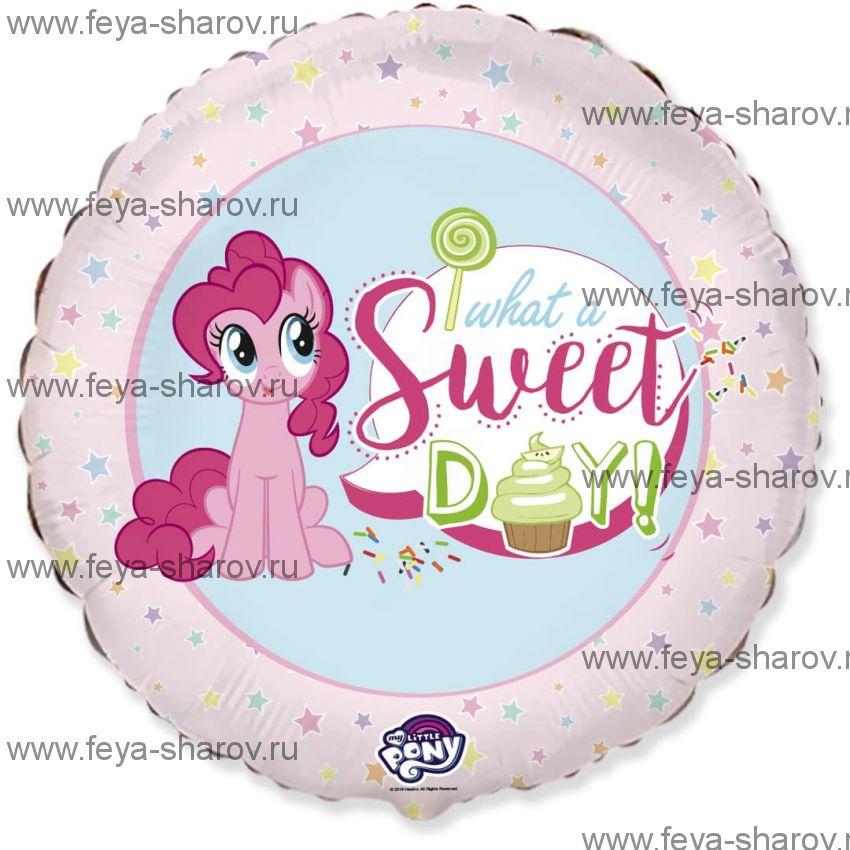Шар Сладкий день Пинки Пай 46 см