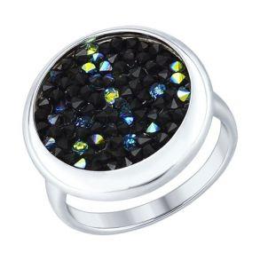 Серебряное кольцо с кристаллами Swarovski 94012429 SOKOLOV