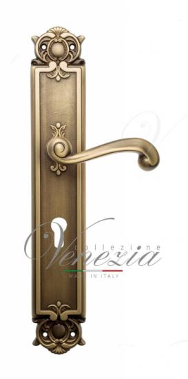 Дверная ручка Venezia Carnevale CYL на планке PL97 матовая бронза