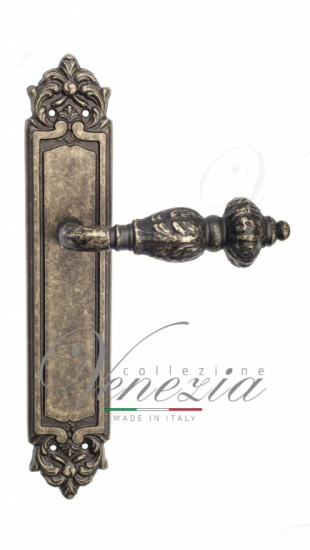Дверная ручка Venezia Lucrecia CYL на планке PL96 античная бронза