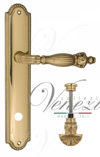"""Дверная ручка Venezia """"OLIMPO"""" WC-4 на планке PL98 полированная латунь"""