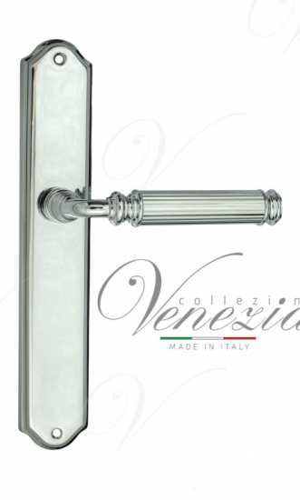 """Дверная ручка Venezia """"MOSCA"""" на планке PL02 полированный хром"""