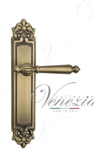 Дверная ручка Venezia PELLESTRINA на планке PL96 матовая бронза