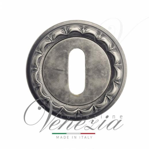 Накладка дверная под ключ буратино Venezia KEY-1 D2 античное серебро