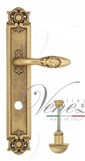 Дверная ручка Venezia Casanova WC-2 на планке PL97 французское золото + коричневый