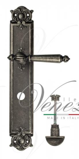 Дверная ручка Venezia PELLESTRINA WC-2 на планке PL97 античное серебро