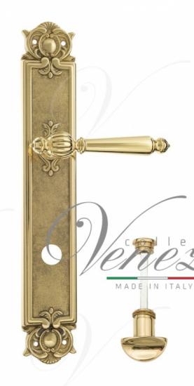 """Дверная ручка Venezia """"PELLESTRINA"""" WC-2 на планке PL97 полированная латунь"""