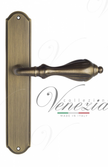 """Дверная ручка Venezia """"ANAFESTO"""" на планке PL02Матовая бронза"""