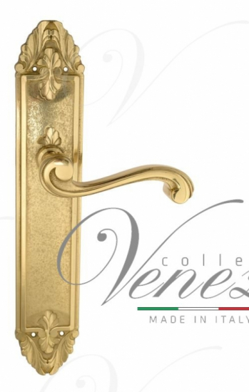 """Дверная ручка Venezia """"VIVALDI"""" на планке PL90 полированная латунь"""