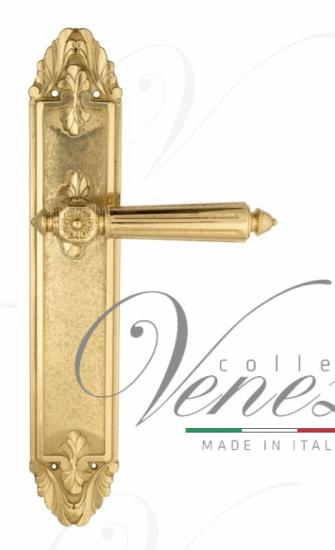 """Дверная ручка Venezia """"CASTELLO"""" на планке PL90 полированная латунь"""
