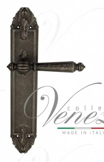 """Дверная ручка Venezia """"PELLESTRINA"""" на планке PL90 античное серебро"""