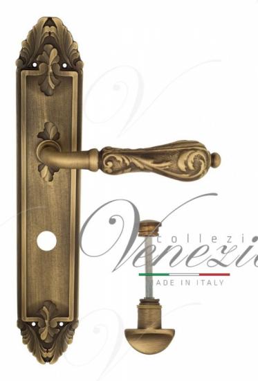 """Дверная ручка Venezia """"MONTE CRISTO"""" WC-2 на планке PL90Матовая бронза"""