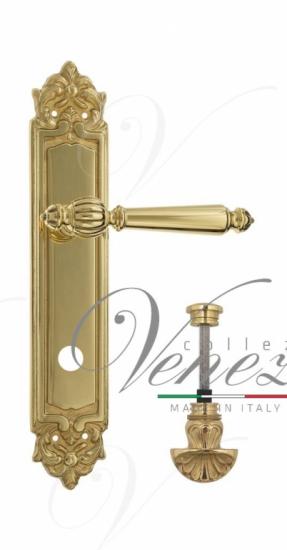 """Дверная ручка Venezia """"PELLESTRINA"""" WC-4 на планке PL96 полированная латунь"""