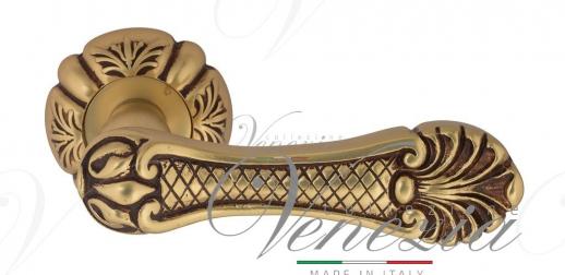 """Дверная ручка Venezia """"FENICE"""" D5 французское золото + коричневый"""