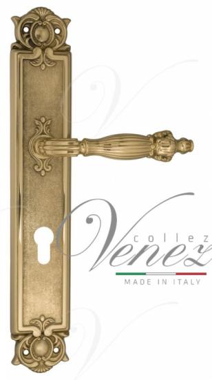 """Дверная ручка Venezia """"OLIMPO"""" CYL на планке PL97 полированная латунь"""