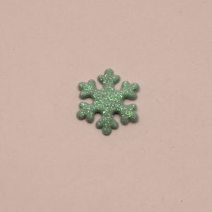 """`Патч """"Снежинка"""", 22 мм, цвет бирюзовый (1уп = 5шт)"""