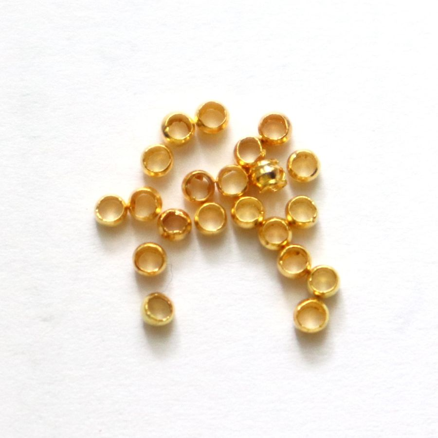 Кримпы-шарики, 2 мм, цвет золото, ~ 100 шт