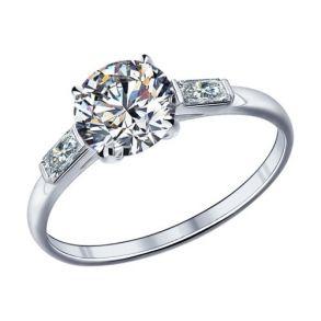Помолвочное кольцо из серебра с фианитами 89010006 SOKOLOV