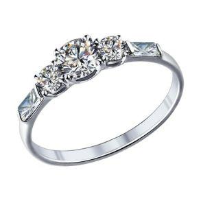 Помолвочное кольцо из серебра с фианитами 89010007 SOKOLOV