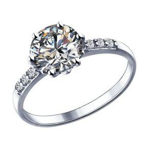 Кольцо из серебра с фианитами 89010012 SOKOLOV
