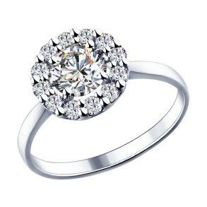 Кольцо из серебра с фианитами 89010013 SOKOLOV