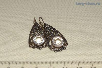 Серьги винтажные серебряные