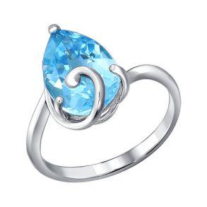 Кольцо из серебра с топазом 92010339 SOKOLOV