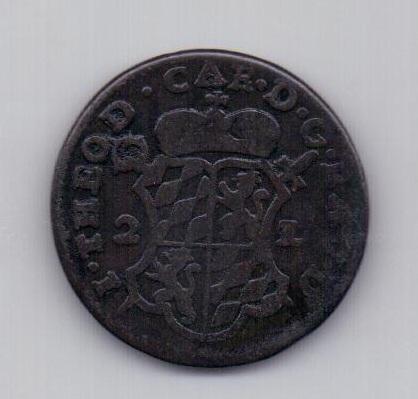 2 лиарда 1751 года Льеж (епископство)