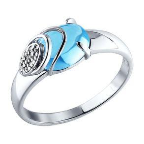 Серебряное кольцо лаконичной формы 92010723 SOKOLOV