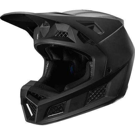 Fox V3 Solids Matte Black шлем, черный матовый