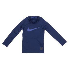 Детская термокофта Nike Pro Warm Mock с длинным рукавом синяя