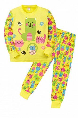 """Пижама детская """"CAT""""  (2-5 лет) СМ407 желтый"""