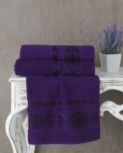 Полотенце махровое REBEKA 100*150 (фиолетовое) Арт.3280-11