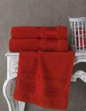Полотенце махровое REBEKA 100*150 (красное) Арт.3280-12